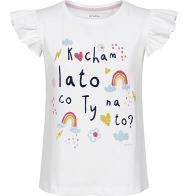 Endo - Bluzka z krótkim rękawem dla dziewczynki 9-13 lat D91G561_1