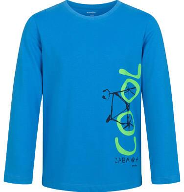 Endo - T-shirt z długim rękawem dla chłopca, z rowerem, niebieski, 9-13 lat C03G684_1 23