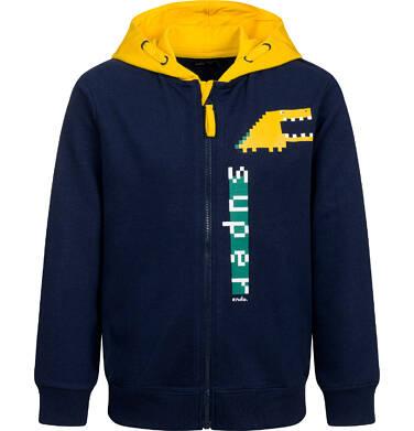 Endo - Bluza z kapturem dla chłopca, z kontrastowym kapturem, granatowa, 9-13 lat C04C045_1 13