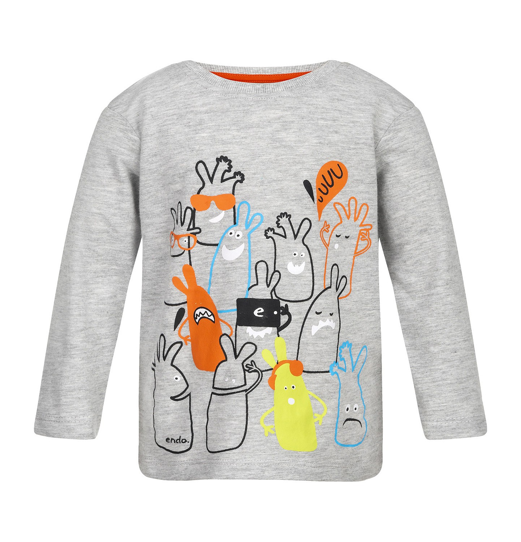 Endo - T-shirt z długim rękawem dla dziecka 0-3 lata N82G051_1