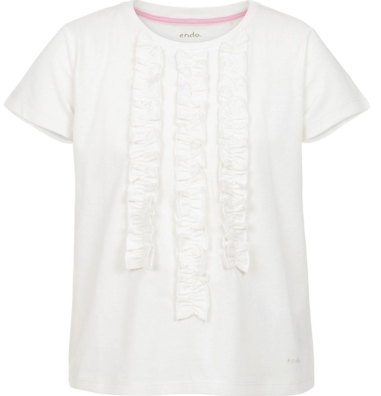 Endo - Bluzka z krótkim rękawem dla dziewczynki 3-8 lat D91G087_1