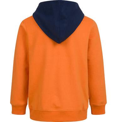Endo - Bluza dla chłopca, z kontrastowym kapturem, pomarańczowa, 2-8 lat C04C064_1 7