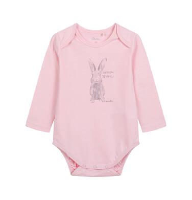 Endo - Body z długim rękawem dla dziecka do 2 lat, różowe N04M003_1 14