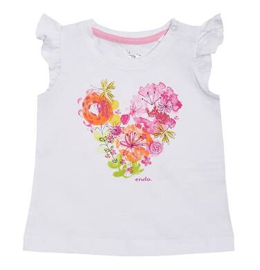 Endo - Bluzka z krótkim rękawem dla dziewczynki 0-3 lata N81G020_1