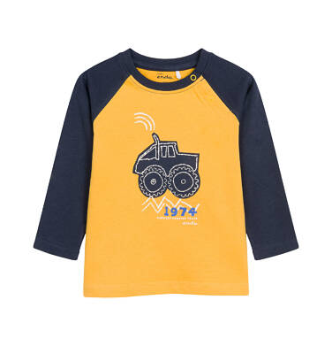 T-shirt z długim rękawem dla dziecka 0-3 lata N92G053_1