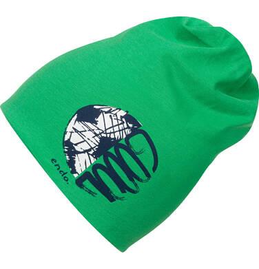 Endo - Czapka dla dziecka, z piłką, zielona C04R012_1 130
