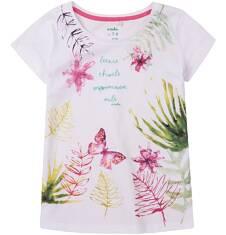 Bluzka z krótkim rękawem dla dziewczynki 4-8 lat D71G145_1