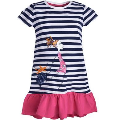 Sukienka z krótkim rękawem dla dziewczynki 9-13 lat D81H505_1