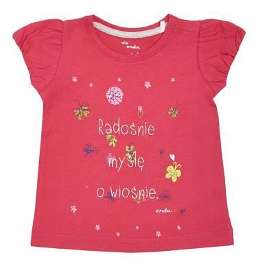Endo - Bluzka z krótkim rękawem dla dziewczynki 0-3 lata N81G021_1