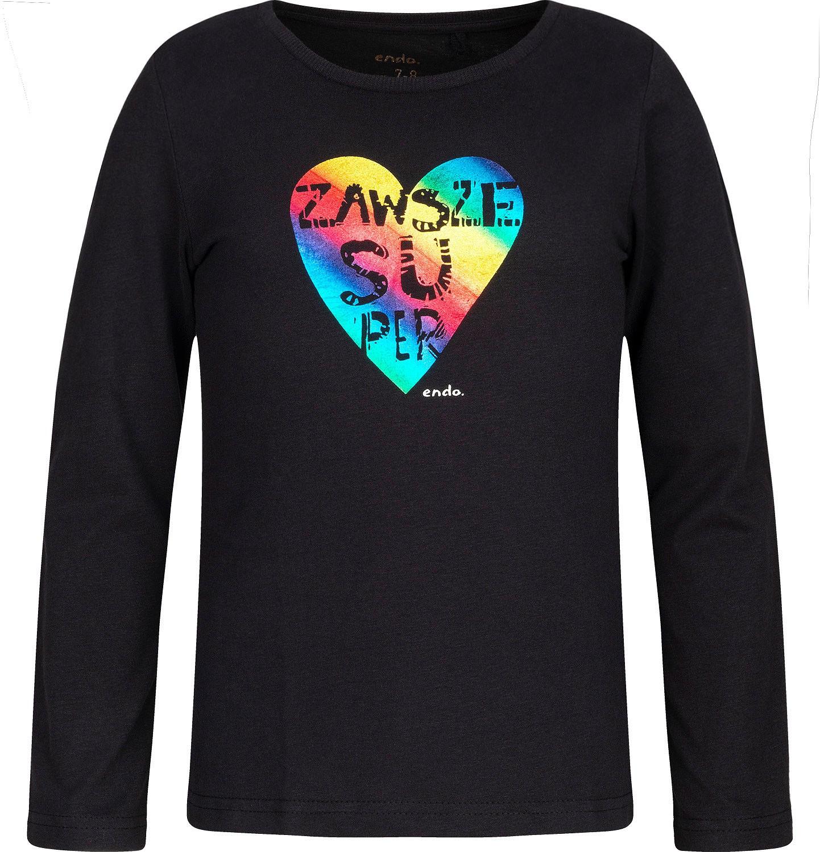 Endo - T-shirt z długim rękawem dla dziewczynki 3-8 lat D82G137_1