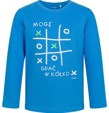 Endo - T-shirt z długim rękawem dla chłopca, kółko i krzyżyk, niebieski, 9-13 lat C03G689_1 15