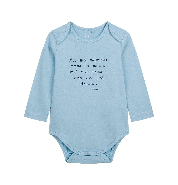 Endo - Body z długim rękawem dla dziecka do 2 lat, niebieskie N04M014_1