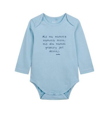 Body z długim rękawem dla dziecka do 2 lat, niebieskie N04M014_1