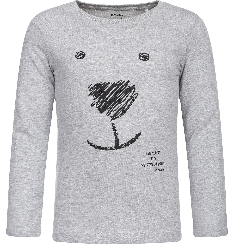 Endo - T-shirt z długim rękawem dla dziewczynki 3-8 lat D82G139_1