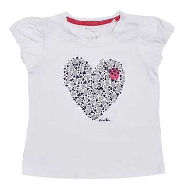 Endo - Bluzka z krótkim rękawem dla dziewczynki 0-3 lata N81G024_1