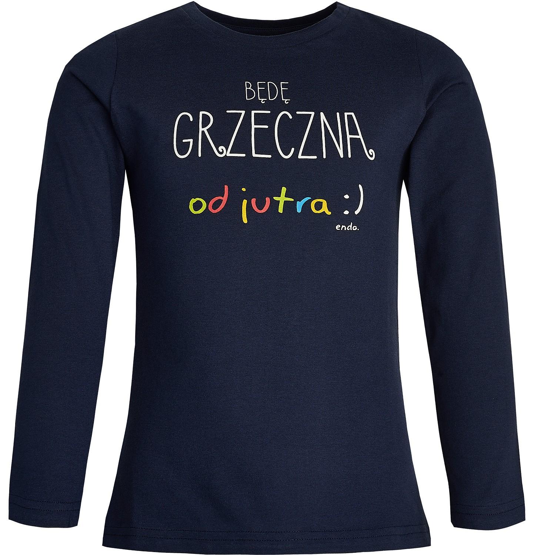 Endo - T-shirt z długim rękawem dla dziewczynki 3-8 lat D82G140_1