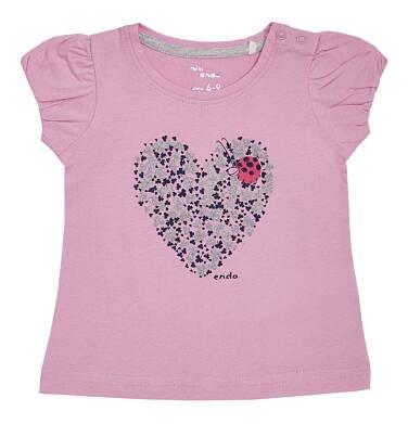 Endo - Bluzka z krótkim rękawem dla dziewczynki 0-3 lata N81G024_2
