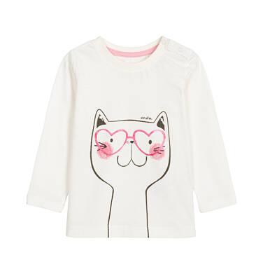 Bluzka z długim rękawem dla dziecka 0-3 lata N92G039_1