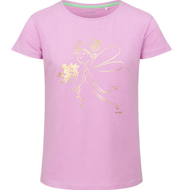 Endo - Bluzka z krótkim rękawem dla dziewczynki, z wróżką, różowa, 2-8 lat D03G088_1 17
