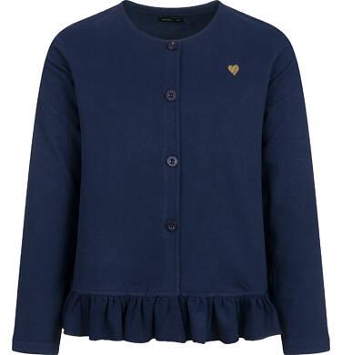 Bluza rozpinana dla dziewczynki, granatowa, 9-13 lat D04C033_2