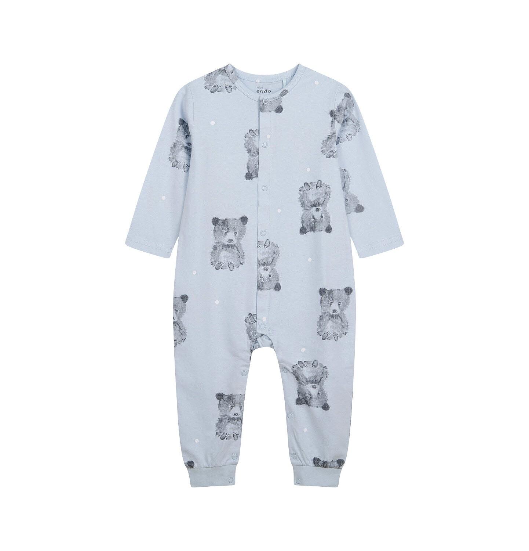 Endo - Pajac dla dziecka do 2 lat, w misie, niebieski N04N003_1
