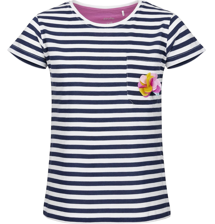 Endo - Bluzka z krótkim rękawem dla dziewczynki 3-8 lat D91G096_1