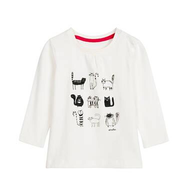 Bluzka z długim rękawem dla dziecka 0-3 lata N92G040_1