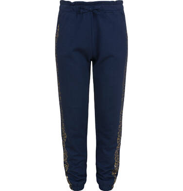 Endo - Spodnie dresowe dla dziewczynki, granatowe, 9-13 lat D04K032_1 6