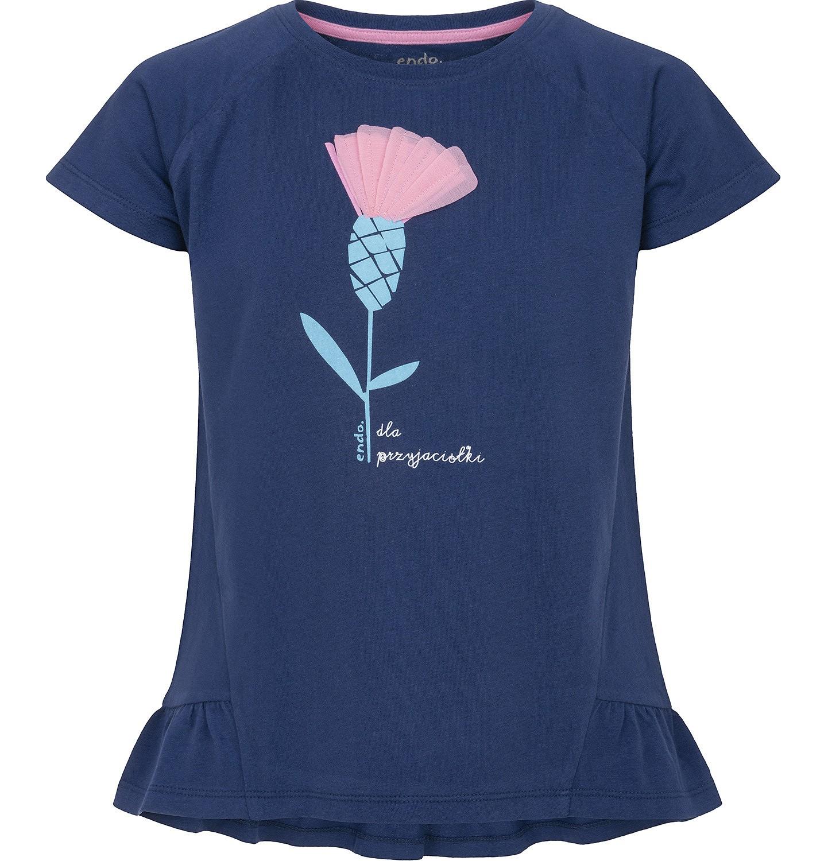 Endo - Bluzka z krótkim rękawem dla dziewczynki 3-8 lat D91G107_1