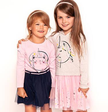 Endo - Sukienka z kapturem i długim rękawem dla dziewczynki 3-8 lat D92H059_1