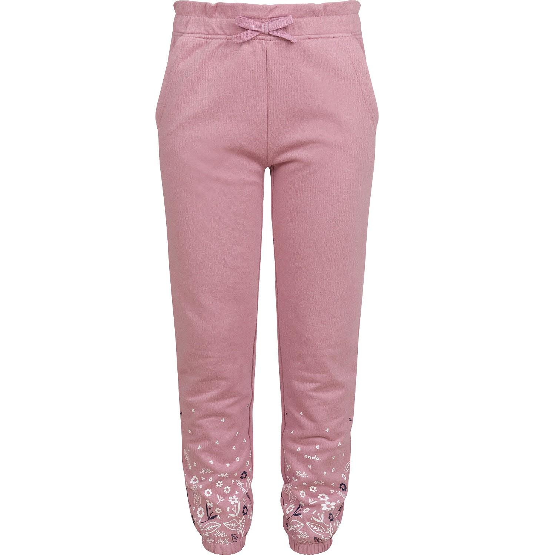 Endo - Spodnie dresowe dla dziewczynki, różowe, 2-8 lat D04K054_1