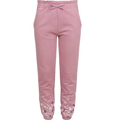 Endo - Spodnie dresowe dla dziewczynki, różowe, 2-8 lat D04K054_1 20