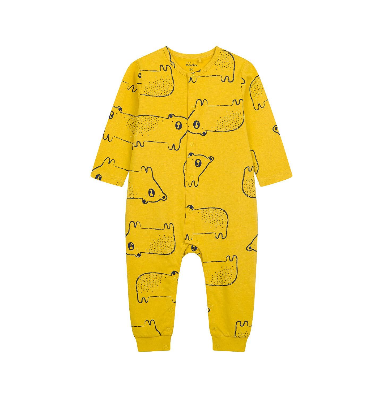 Endo - Pajac dla dziecka do 2 lat, w misie, żółty N04N010_2