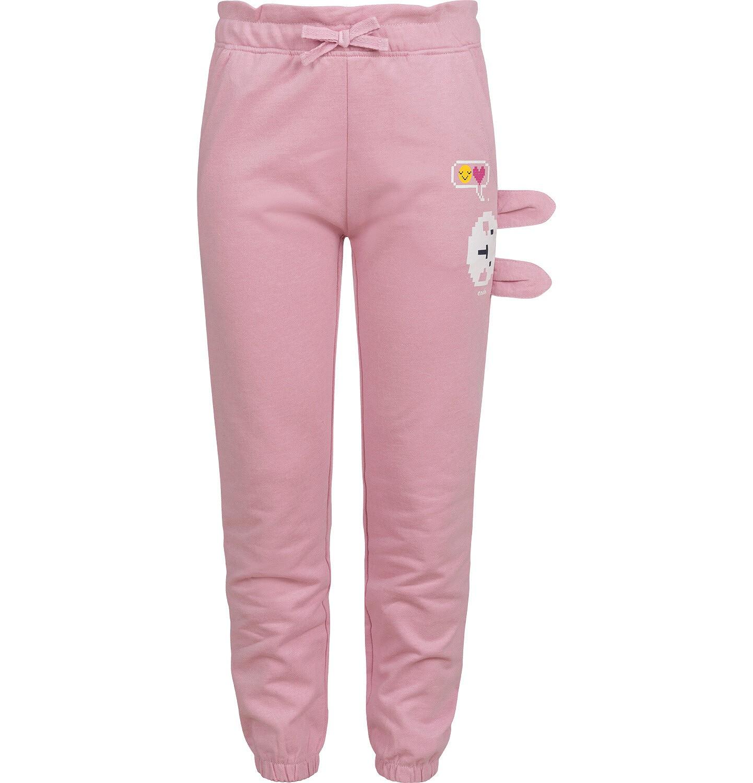 Endo - Spodnie dresowe dla dziewczynki, różowe, 2-8 lat D04K057_1