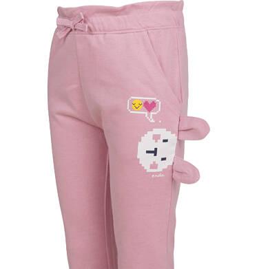 Endo - Spodnie dresowe dla dziewczynki, różowe, 2-8 lat D04K057_1,3
