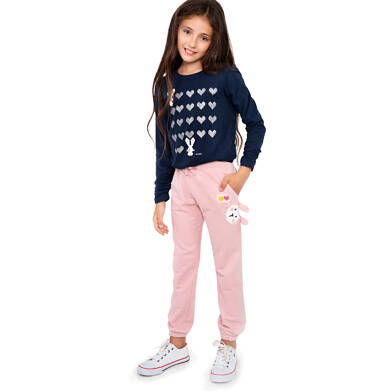 Endo - Spodnie dresowe dla dziewczynki, różowe, 2-8 lat D04K057_1 22