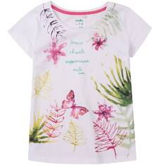 Bluzka z krótkim rękawem dla dziewczynki 9-13 lat D71G645_1