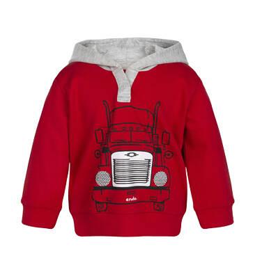 Bluza z kapturem rozpinana dla dziecka 0-3 lata N82C012_1