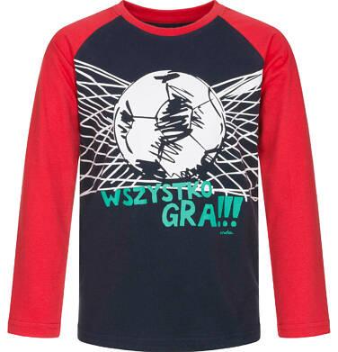 Endo - T-shirt z długim rękawem dla chłopca, wszystko gra, granatowy, 9-13 lat C92G528_2