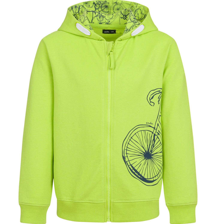 Endo - Rozpinana bluza z kapturem dla chłopca, limonkowa, 9-13 lat C03C520_1