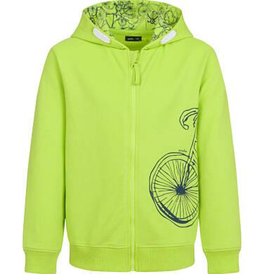 Endo - Rozpinana bluza z kapturem dla chłopca, limonkowa, 9-13 lat C03C520_1,1