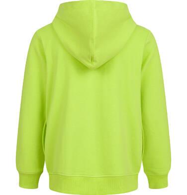 Endo - Rozpinana bluza z kapturem dla chłopca, limonkowa, 9-13 lat C03C520_1,2