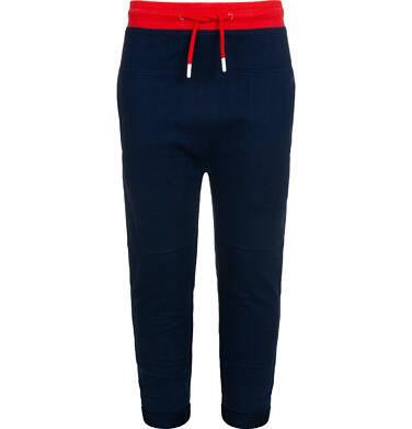 Endo - Spodnie dresowe dla chłopca, z obnizonym krokiem, granatowe, 2-8 lat C05K026_2,1