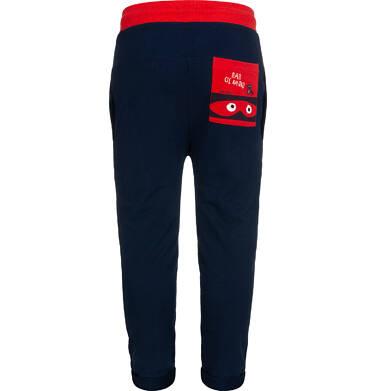 Endo - Spodnie dresowe dla chłopca, z obnizonym krokiem, granatowe, 2-8 lat C05K026_2,2