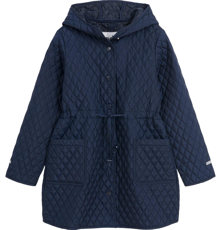 Endo - Przejściowy płaszcz z kapturem dla dziewczynki, pikowany, granatowy, 9-13 lat D03A513_1
