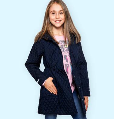 Endo - Przejściowy płaszcz z kapturem dla dziewczynki, pikowany, granatowy, 9-13 lat D03A513_1 3