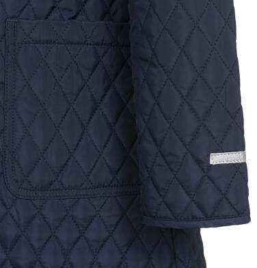 Endo - Przejściowy płaszcz z kapturem dla dziewczynki, pikowany, granatowy, 9-13 lat D03A513_1,5