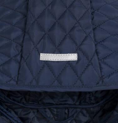 Endo - Przejściowy płaszcz z kapturem dla dziewczynki, pikowany, granatowy, 9-13 lat D03A513_1,4