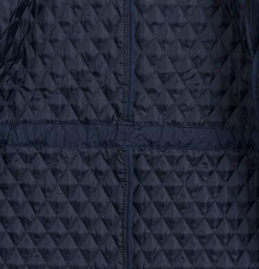 Endo - Przejściowy płaszcz z kapturem dla dziewczynki, pikowany, granatowy, 9-13 lat D03A513_1,6