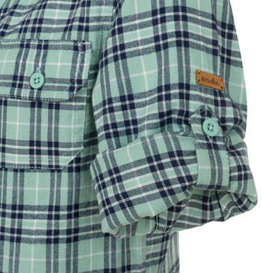 Endo - Koszula z długim rękawem dla chłopca, w kratę, 9-13 lat C92F503_2